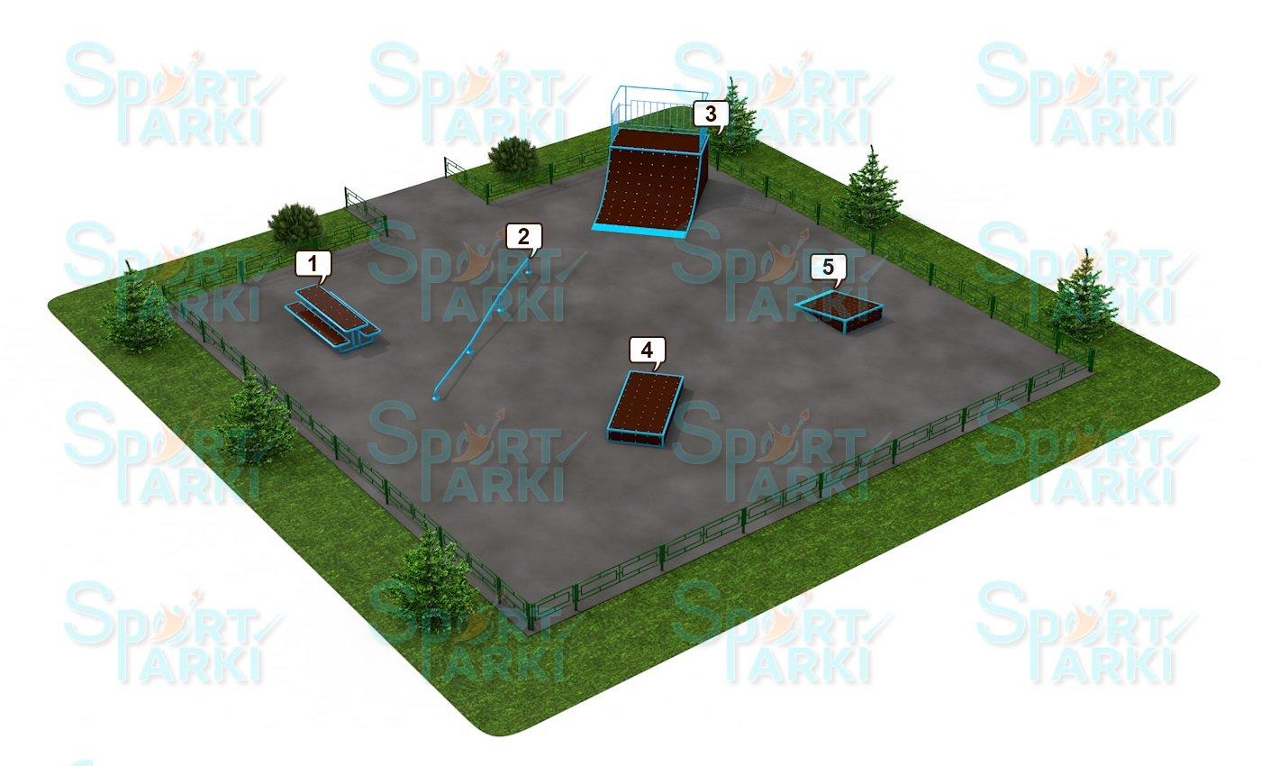 Площадки скейт-парков и роллердромов 7