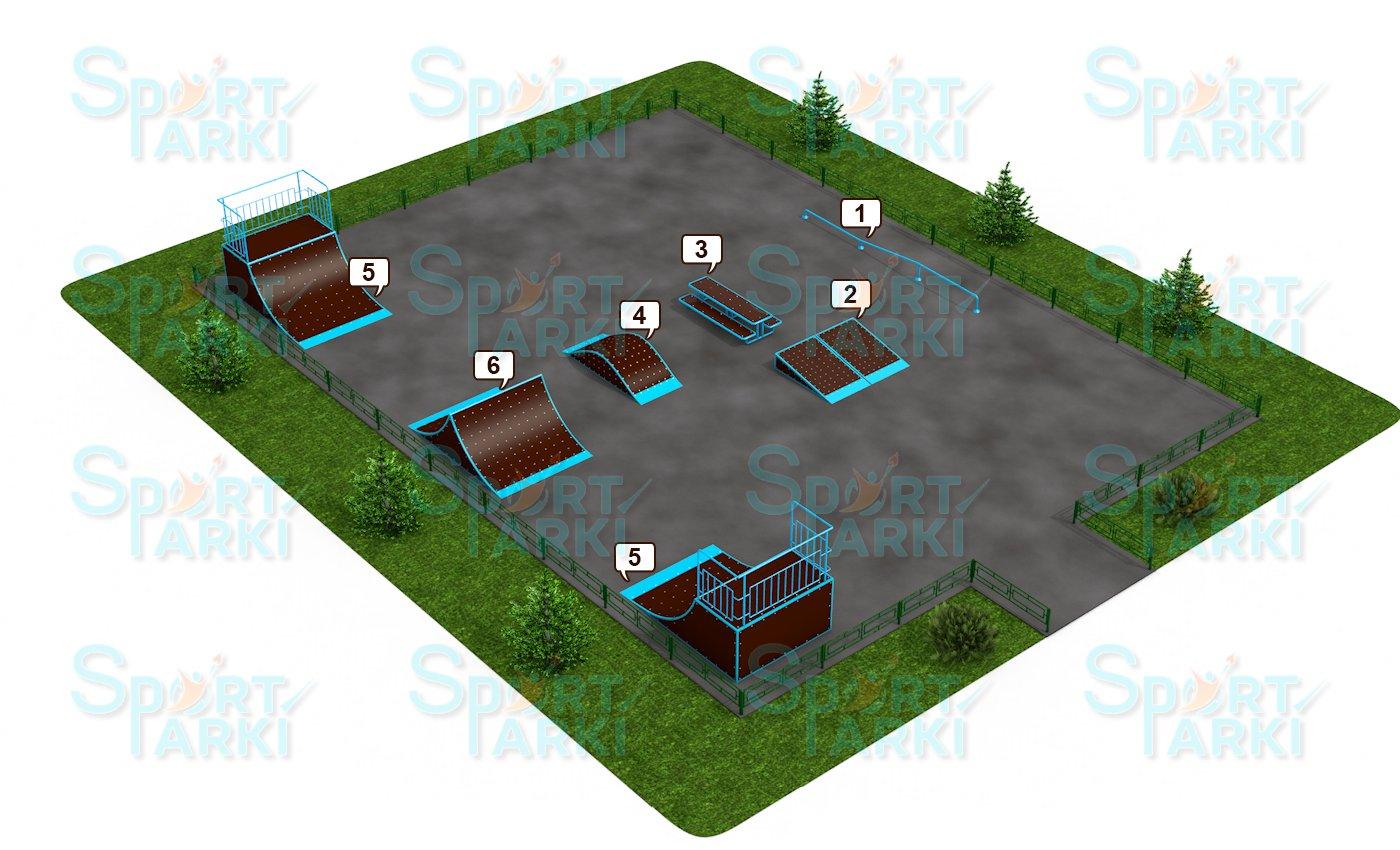 Площадки скейт-парков и роллердромов 8