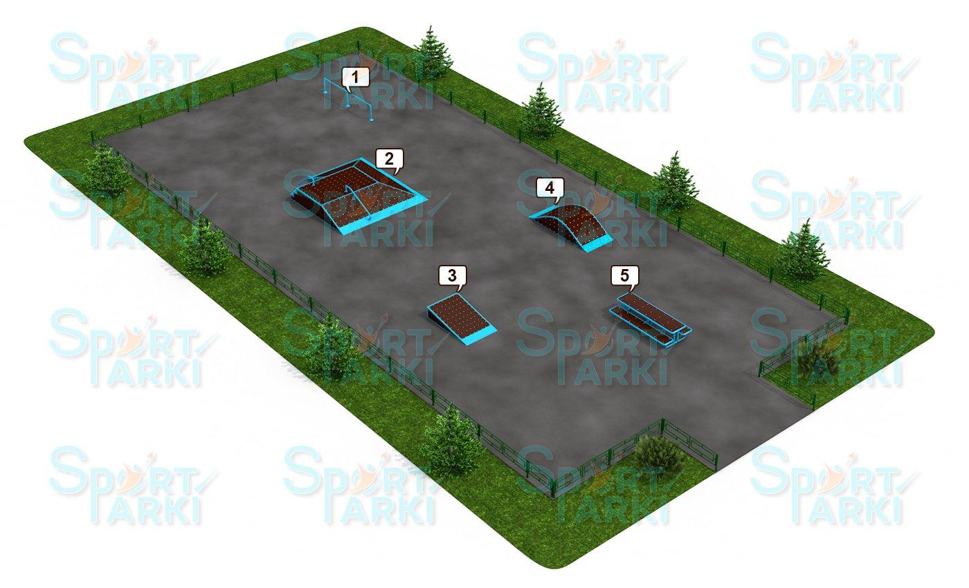 Площадки скейт-парков и роллердромов 9