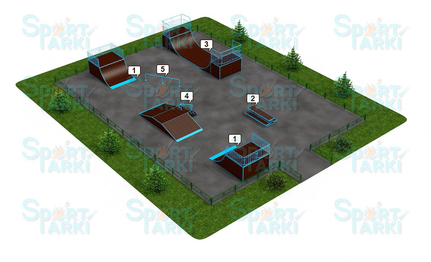 Площадки скейт-парков и роллердромов 10