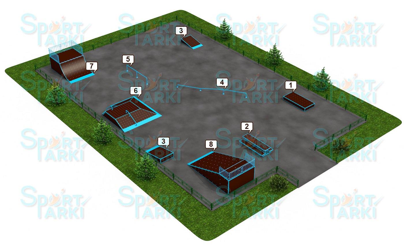 Площадки скейт-парков и роллердромов 11