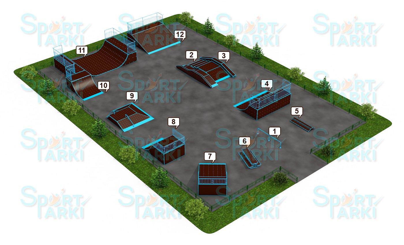 Площадки скейт-парков и роллердромов 13