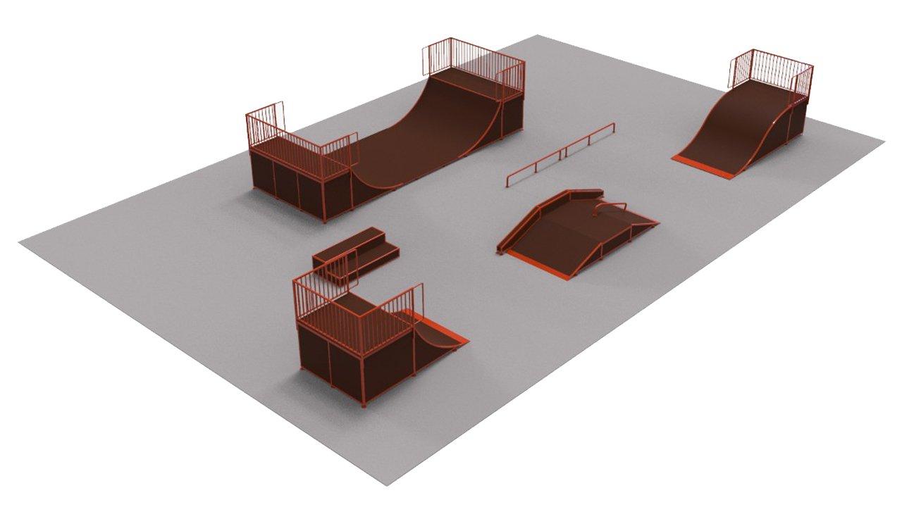 Оборудование для скейтпарков и роллердромов 1