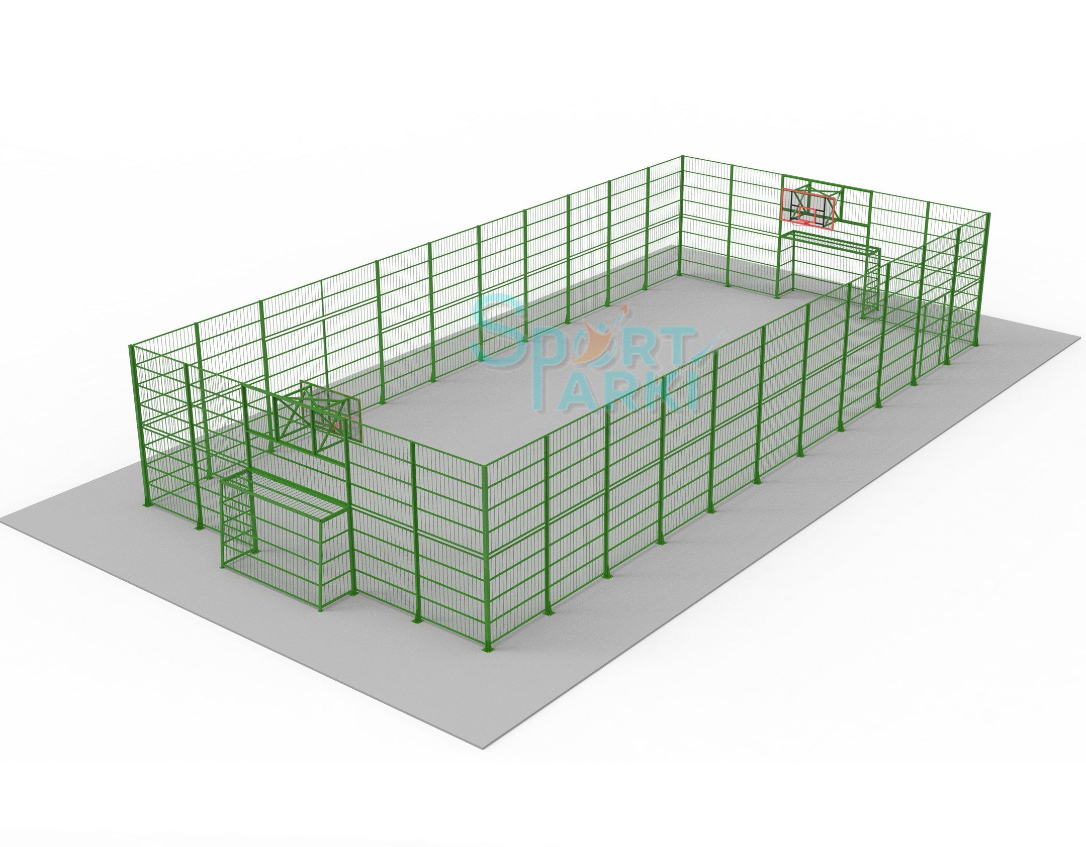 Ограждение спортивных площадок, стойкое к механическим повреждениям, от Sport-parki 2
