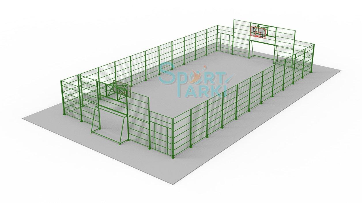 Ограждение универсальных спортивных площадок 11