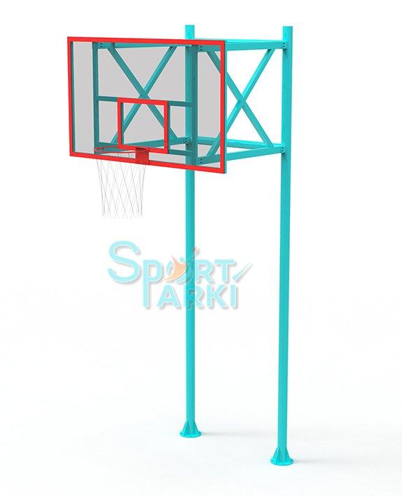 Стойка с баскетбольным кольцом БС-002