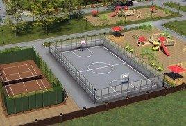 Ограждение спортивных площадок, стойкое к механическим повреждениям, от Sport-parki 1